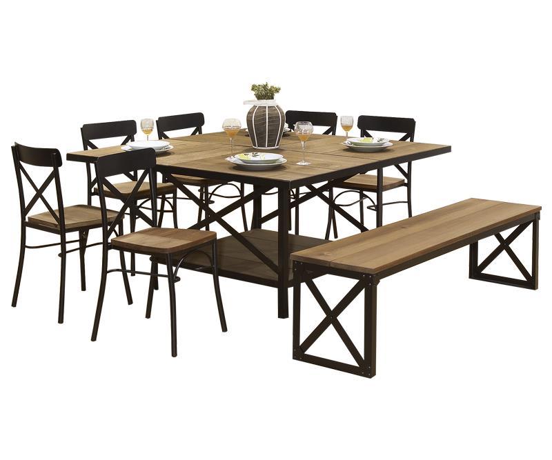 Comedores vintage comedores vintage mesas de comedor for Comedores de madera cuadrados